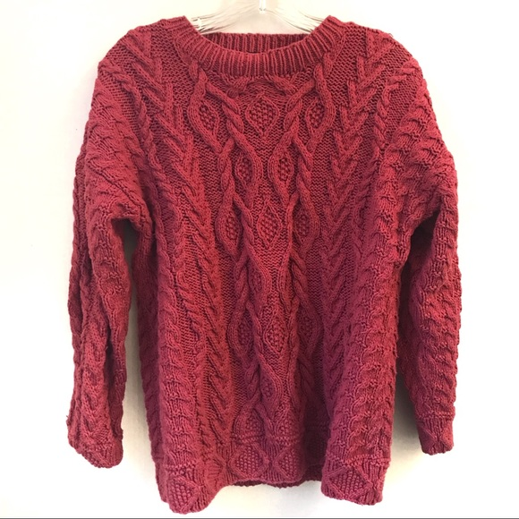 Eddie Bauer Pink Cotton Cable Sweater S P 131558903